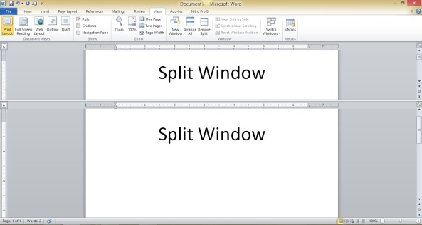 split window